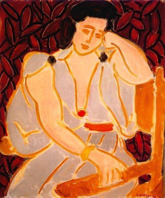 Ritratto di Monique con vestito grigio di Henri Matisse