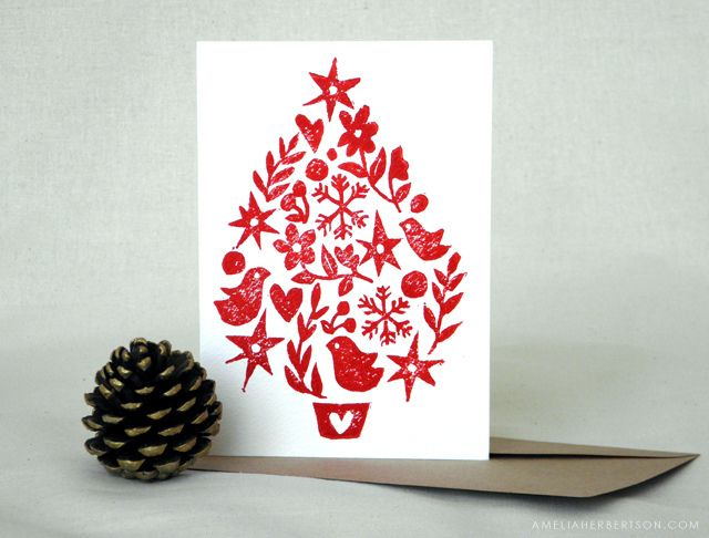 Christmas card: Tree by amelia herbertson, via Flickr