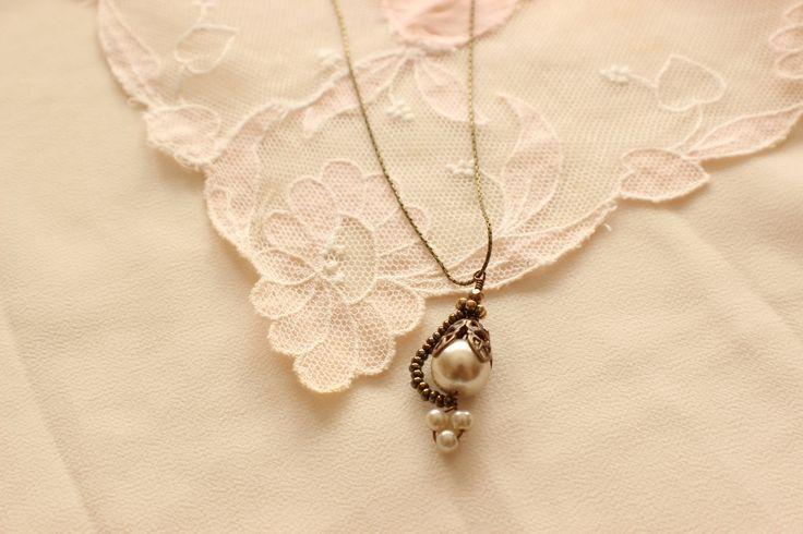 Poetry Woodnymph Necklace - Bridal Jewelry, Wedding Jewelry, Bridesmaid Jewelry, Mother of the Bride Jewelry http://www.robingoodfellowdesigns.com/woodnymph-necklaces/vintage-drop-woodnymph-necklace