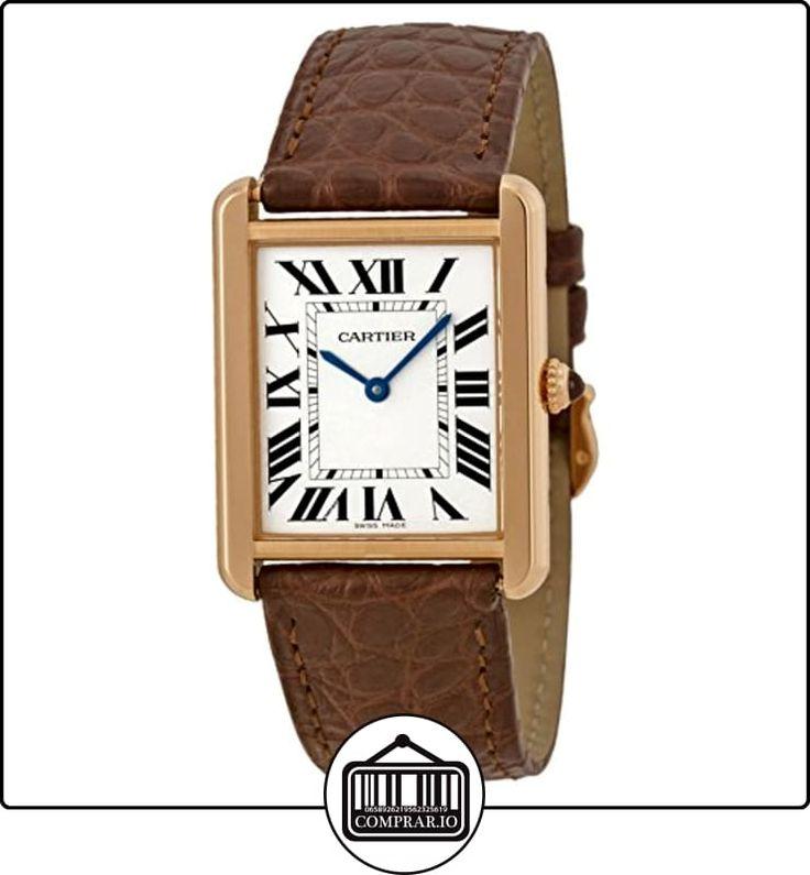 CARTIER TANK SOLO RELOJ DE MUJER CUARZO CORREA DE CUERO COLOR MARRÓN W5200025  ✿ Relojes para mujer - (Lujo) ✿