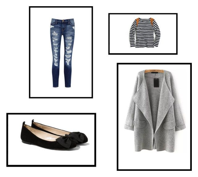 Jesień by magdalena-fajfer on Polyvore featuring moda, J.Crew, Current/Elliott and MANGO