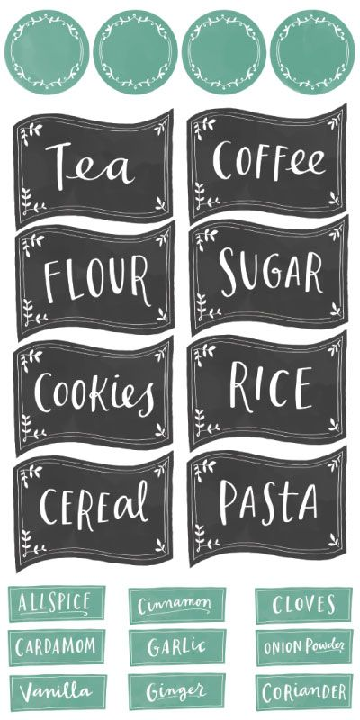 I seriously love these labels that I found over at WorldLabel!  They were designed by Emily McDowell.  There are 89 Food & Spice Labels including 4 sets of Label styles, each include a blank sheet (if you want to enter your own text), and they all come in Black and Teal. :: Take me to the free …