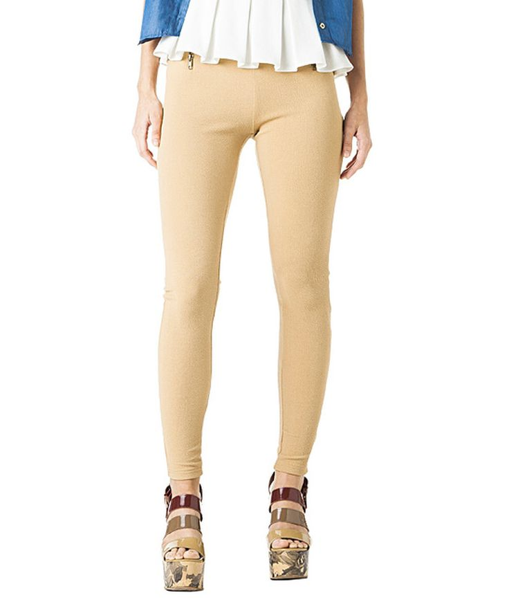 Look at this Melao Camel Leggings on #zulily today!