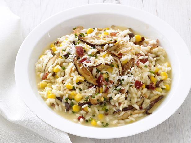 Corn-Mushroom Risotto #Grains #Veggies #FNMagFoodnetwork Com, Healthy Eating, Healthy Dinner, Corn Mushrooms Risotto, Healthy Recipe, Food Network Recipe, Cornmushroom Risotto, Favorite Recipe, Risotto Recipes