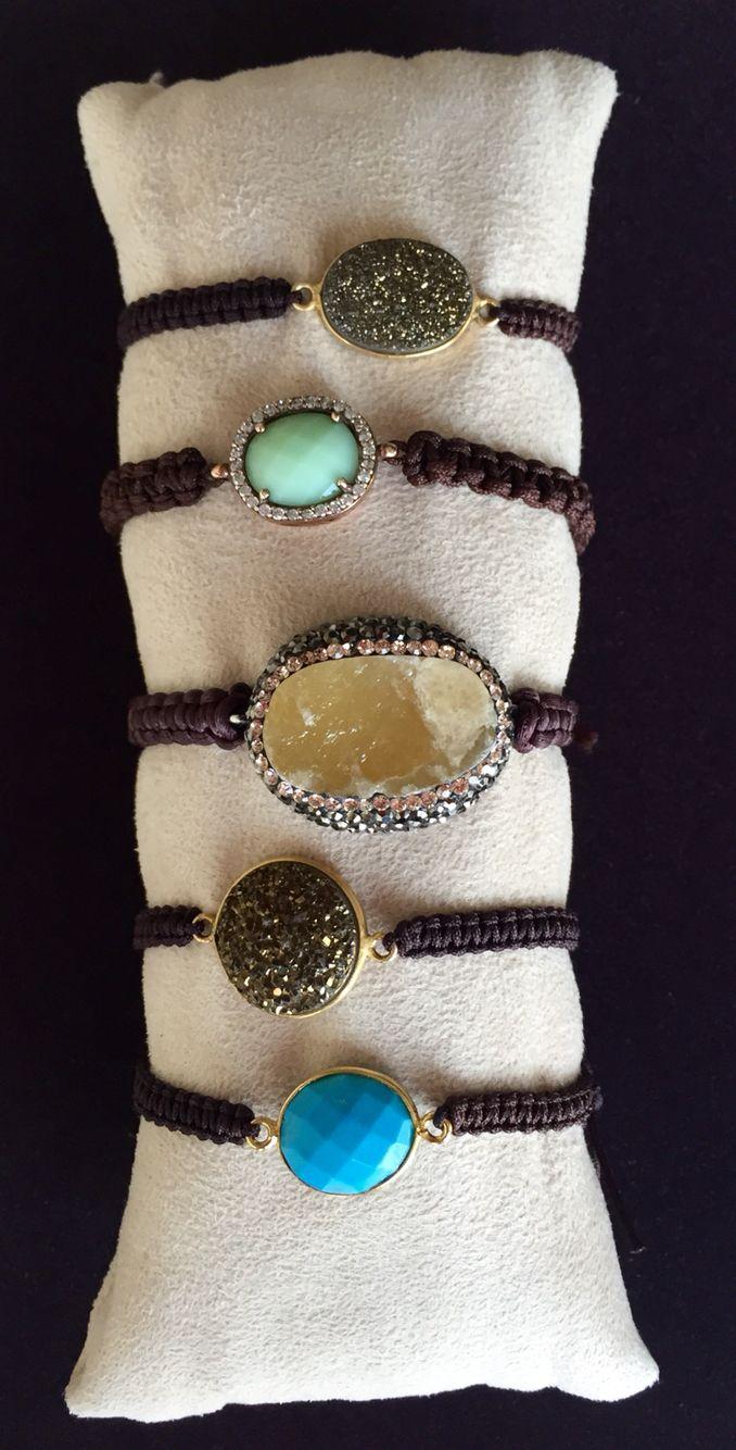 Bracelets with gemstones