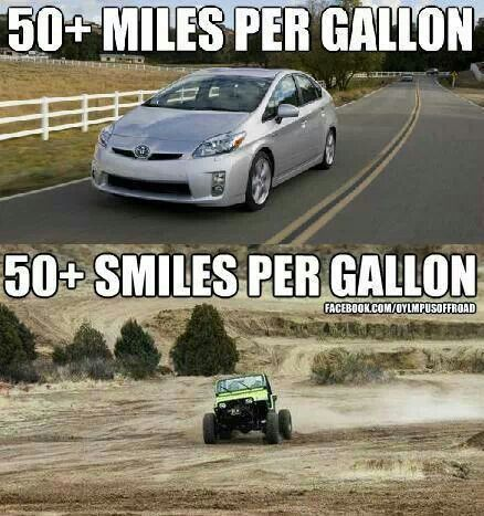 Jeeps are measured in smiles per gallon