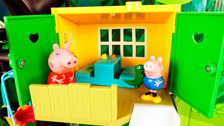 Свинка Пеппа папа построил домик на дереве