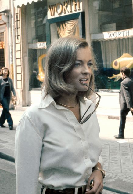 Romy Schneider in Paris, 1972. Im impressed from her movie cesar and rosalie..