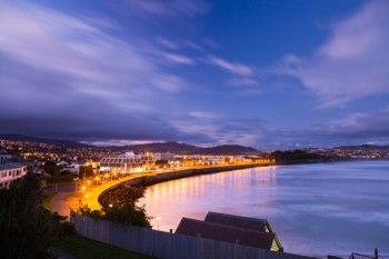 Dusk during winter at St Clair Beach, Dunedin, New Zealand. - Buy this print | Box of Light - Surf + Lifestyle + Mountains