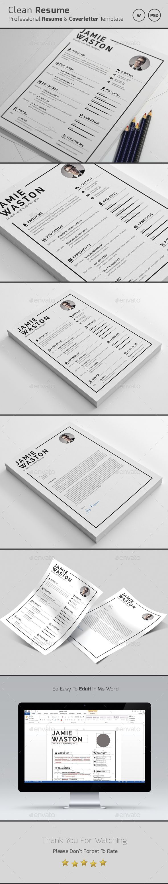 Graphic Design Resume Templates] Professional Resumecv And Cover ...