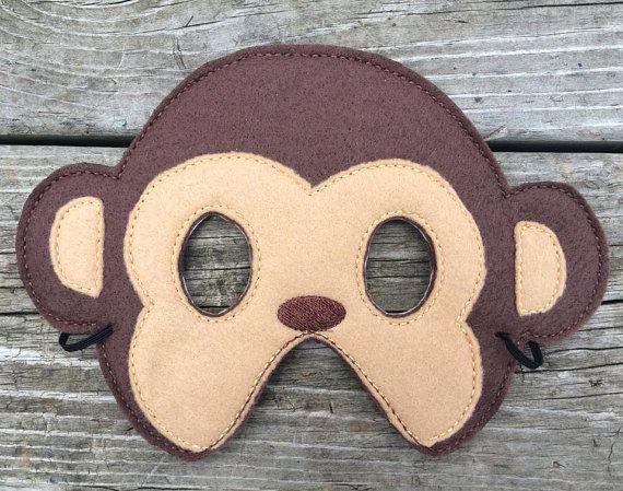 Affe gefühlt Maske von lilliannamarie auf Etsy