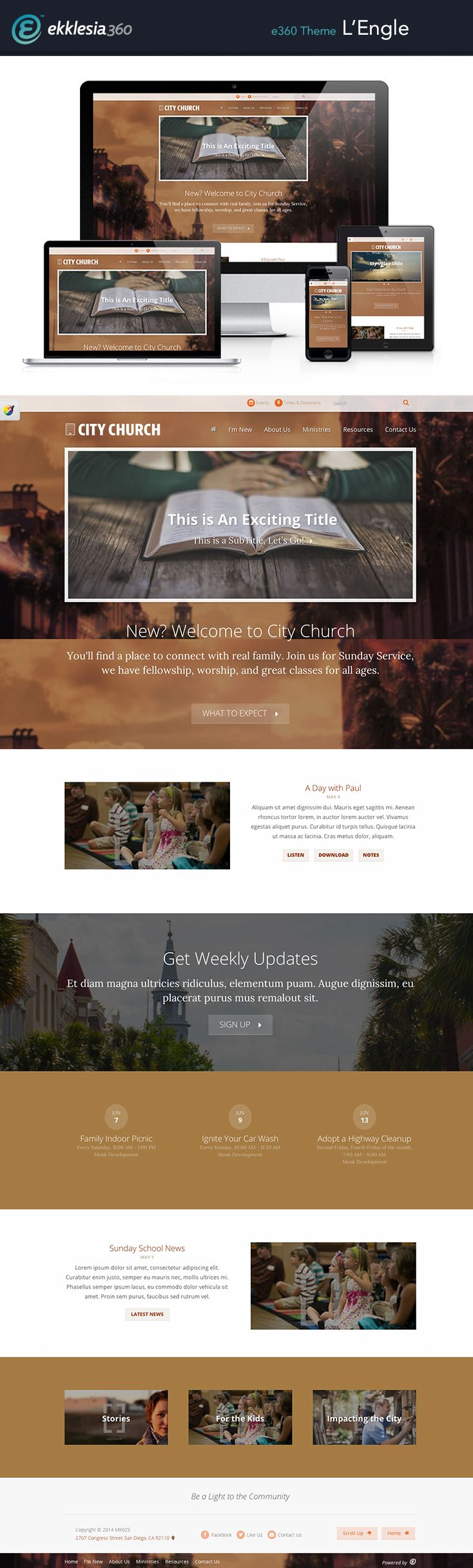 15 best Church Website Themes images on Pinterest