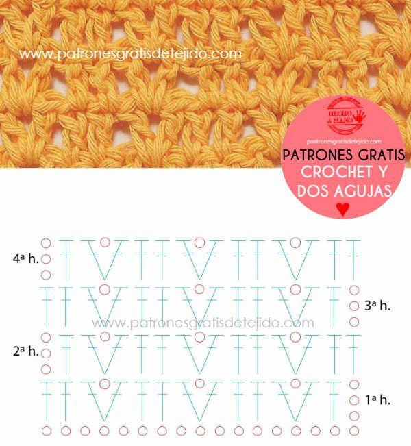 Patron Punto Fantasia Calado Crochet Patrones Puntos Crochet Patrones Tutorial De Tejido A Ganchillo