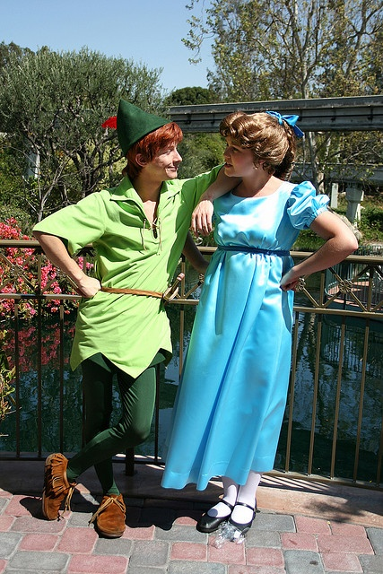 Carebear Wendy and Spieling Peter. My favorite Disney couple.