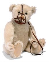 A STEIFF WHITE TEDDY BEAR WITH MUZZLE, (5343,27), jointed, m