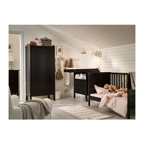 sundvik lit b b brun noir toddler bed the o 39 jays and beds. Black Bedroom Furniture Sets. Home Design Ideas
