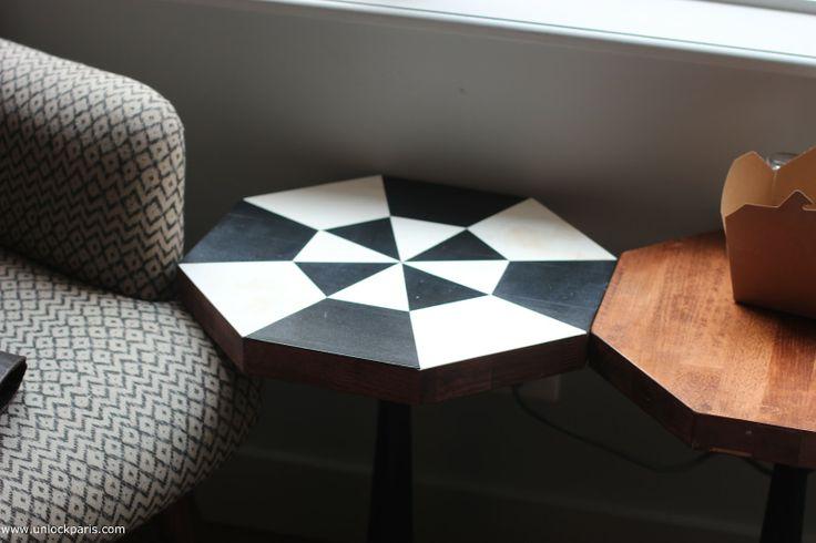 octogonal side table