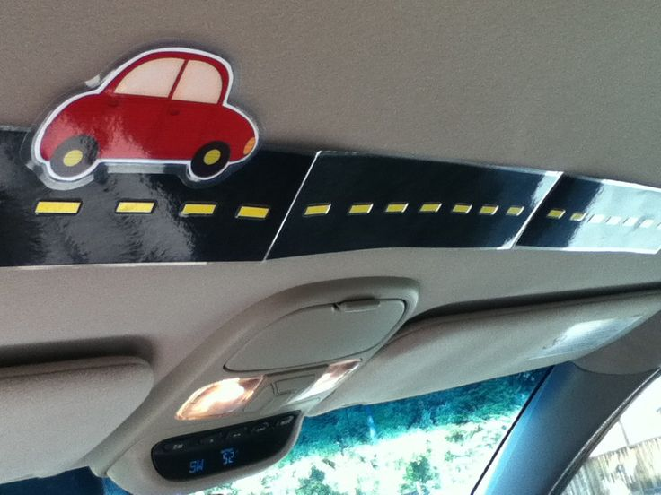 SO CUTE. to help kids keep track of how far on road trips