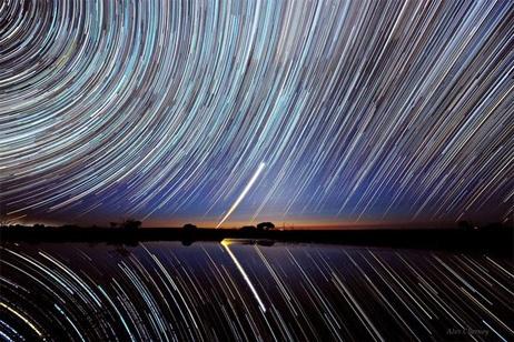 オーストラリア ビクトリア州  塩湖、ティレル湖の上空