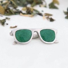 Plata sostenible Fairmined-Aventurina verde Find it in www.nehcaajewelry.com