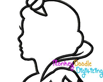 Cinderella silhouette Princess Embroidery by MonkeyDoodleDigi
