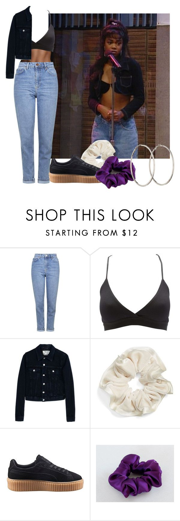 """""""#682 (ashley banks inspired)"""" by babygyal09 ❤ liked on Polyvore featuring Topshop, Charlotte Russe, Acne Studios, L. Erickson, Puma and Chanel"""