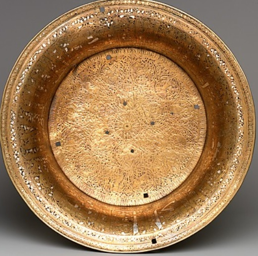 Basin with Zodiac signs and royal titles  late 13th–early 14th century   Egypt or Syria  http://www.metmuseum.org/Collections/search-the-collections/140001725
