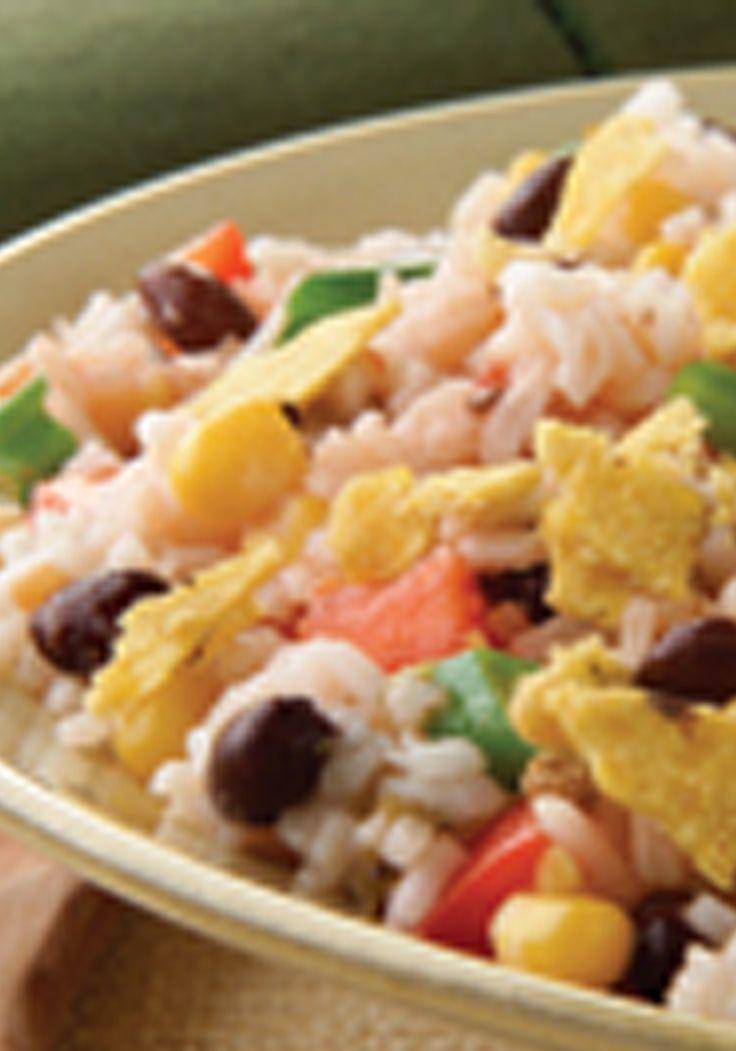 Ensalada de arroz al estilo del sudoeste norteamericano- Grandes ventajas se pueden obtener al combinar sabores de diversas regiones. Compruébalo con esta ensalada de arroz al estilo del sudoeste norteamericano.