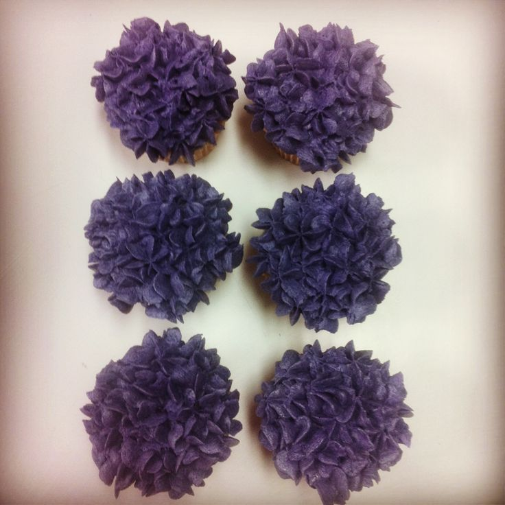 Hydrangea Cupcakes by Alana Rose Cakes