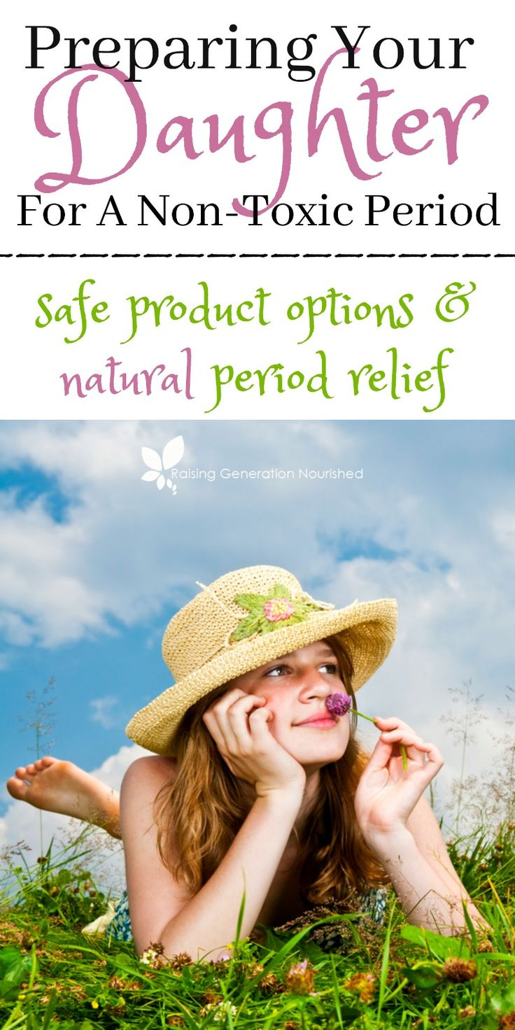 Preparing Your Daughter For A Non Toxic Period :: Safe Product Options And Natural Period Relief For Teens