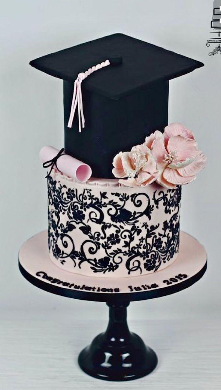 Feminine Graduation Cake Graduation Party In 2019 Pinterest
