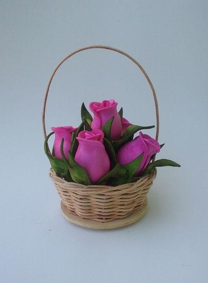 Mini Cesta De Flores Patrones D Flores Cesta De Flores