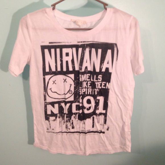 Nirvana Shirt Size small, vintage nirvana shirt Forever 21 Tops