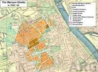 Ghettos Warszaw Ghetto Map