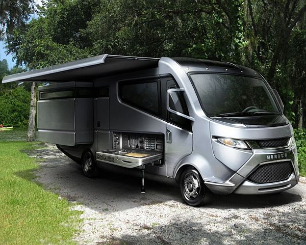 Till now, most recreational vehicles had a bulky frame and therefore used up a lot of juice. But, the all-new RV design successfully eliminates this drawback. Like all the latest green tagged designs, this RV too has slimmed down considerably. Its lean chassis greatly minimizes air drag and resistance.