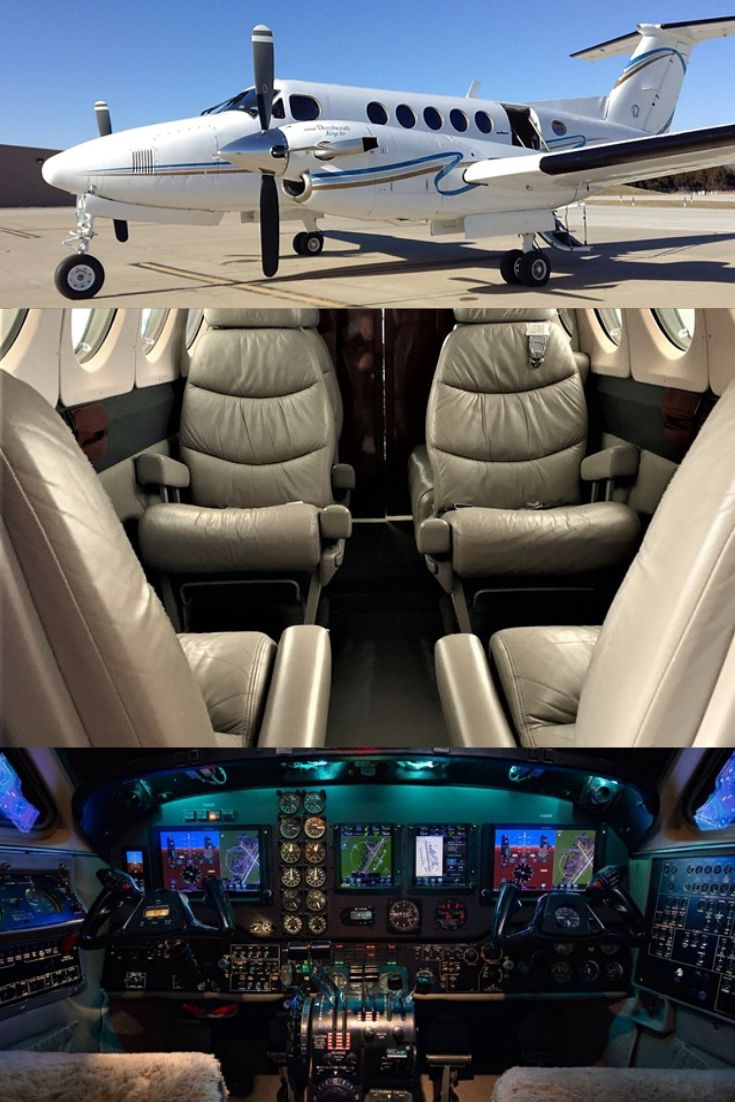 1979 King Air 200 For Sale! Private jet interior
