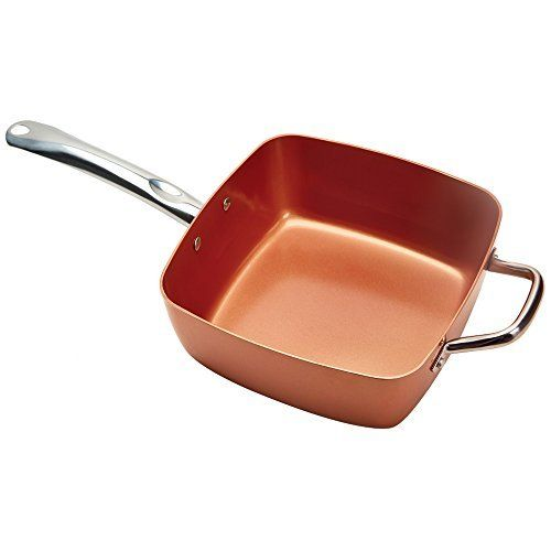 Copper Chef Pan Copper Chef is a square nonstick pan which can be used on the stove or in the oven.