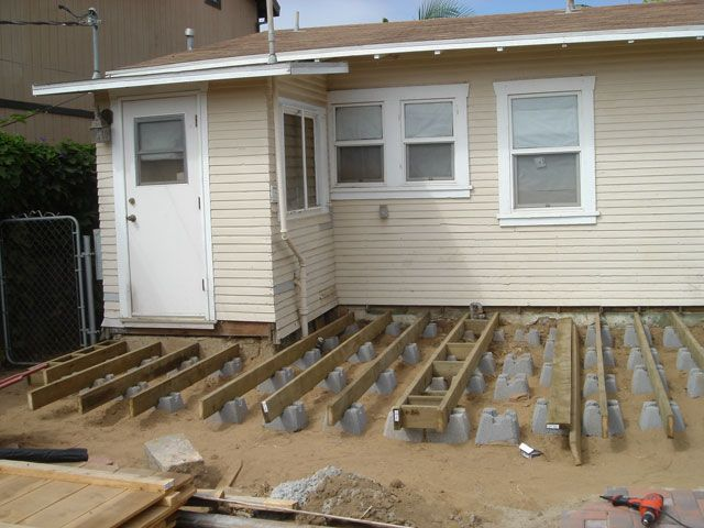 Ground level floating deck thread ground level floating for Building a low profile deck