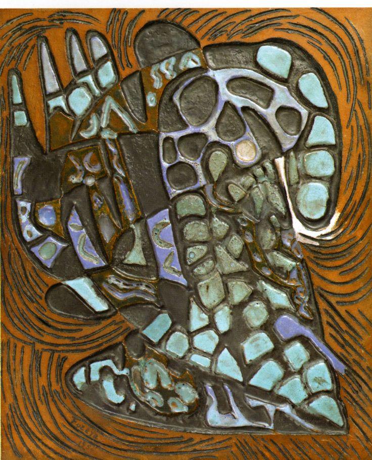 Füreya Koral, board, ceramic, 40x50 cm