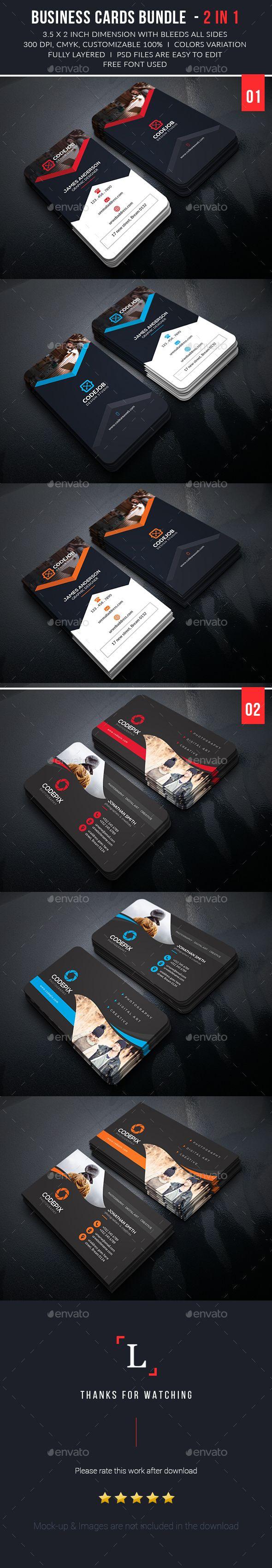 Business Card Template PSD Bundle #visitcard #design Download: http://graphicriver.net/item/business-card-bundle/13434625?ref=ksioks