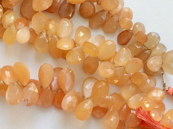 Peach Moonstone Beads Peach Moonstone Faceted by gemsforjewels
