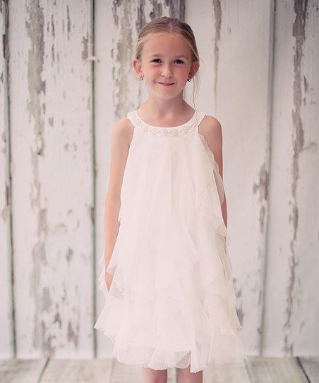 Kids Dream White Waterfall Dress - Toddler & Girls   zulily