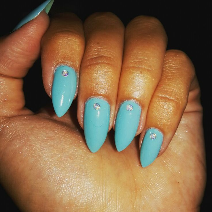Blue Nail Polish Stained My Nails: 1000+ Ideas About Tiffany Blue Nails On Pinterest