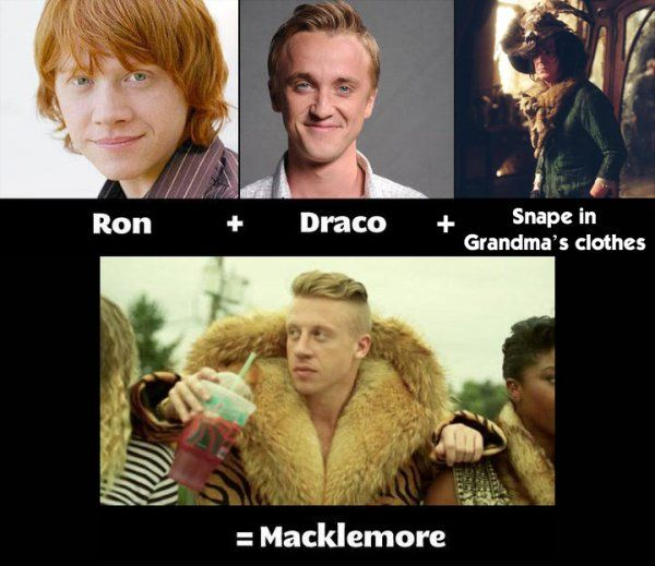What does Macklemore mean?. This is f*ckin awesome.. rap,harry potter,rapper,People,Pop Culture,snape,ron weasley,macklemore,draco