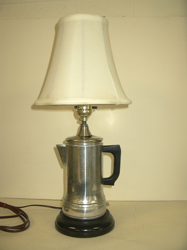 Vintage electric coffeepot accent table lamp one of a kind ...