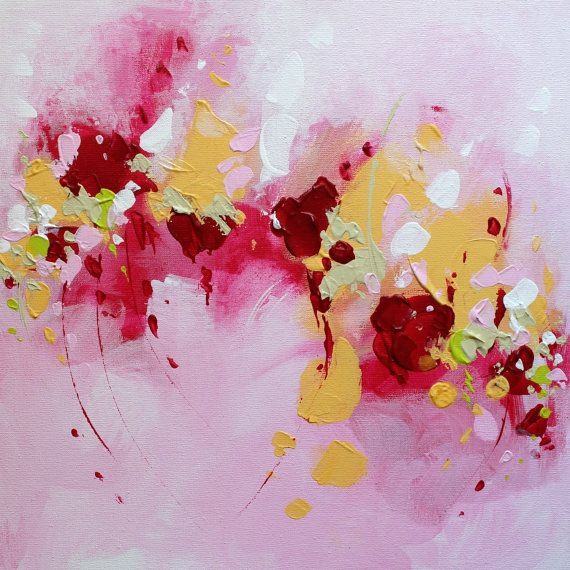 Abstract painting by Svetlansa #painting #abstract #svetlansa #homedecor #pink  #artwork #wallart #abstractart