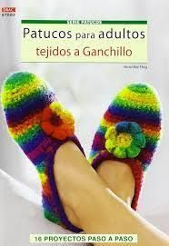 Resultado de imagen de sandalias tejidas a crochet para adultos