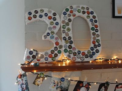 30th Birthday Beer Bash - Have a bottle cap project for people to add to as the night goes on