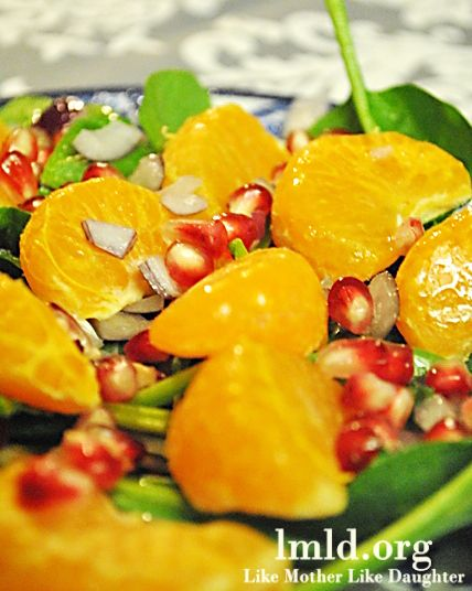 Citrus Pomegranate Salad.a I would prepare a different dressing.