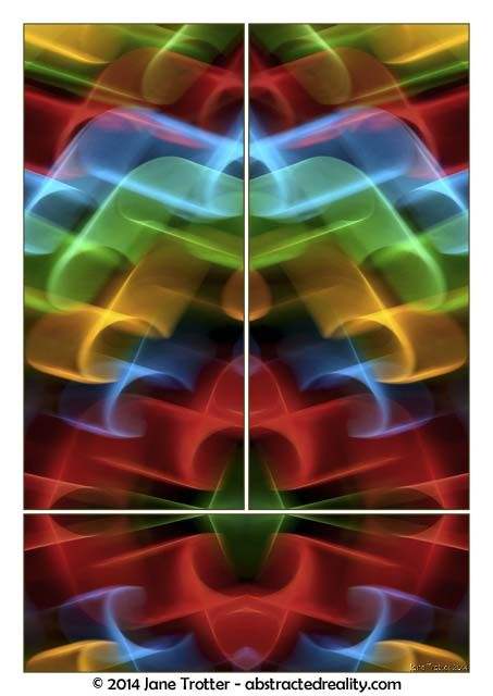 Abstract art to challenge your imagination. 'Mystique' - an abstract photograph created by Jane Trotter. Visit the website abstractedreality.com for the story behind the image. Fine Art Prints available. #abstract #art #photography #triptych #creative #colour #curves
